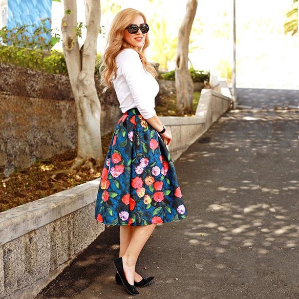 модные юбки наже колена