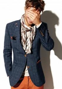 как как завязывать мужской шарф