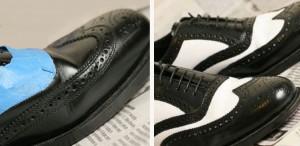 покрасить кожаную обувь