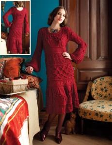 трикотажные платья в стиле ретро