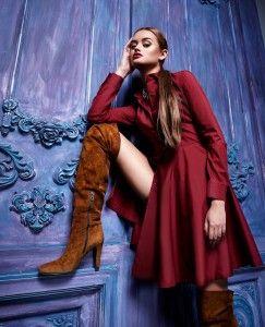 платье-рубашка и обувь
