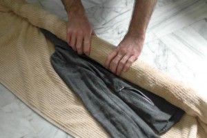 cушка в полотенце