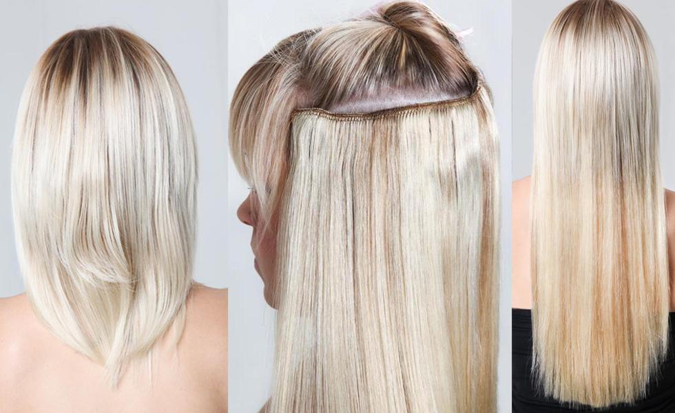 Трессы на заколках из натуральных волос