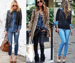 С чем носить джинсовую рубашку?