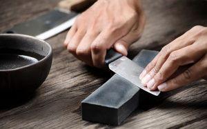 Как точить ножи на точильном станке