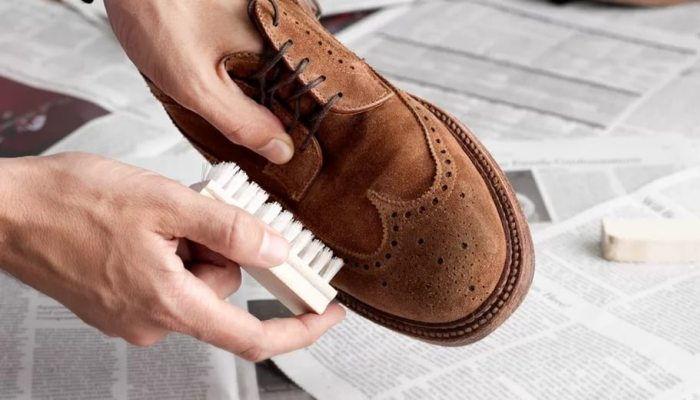 удаление следов соли с обуви