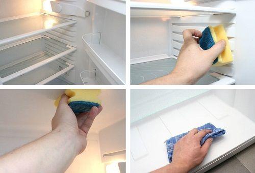 как мыть холодильник