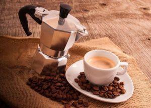 кофе в гейзрной кофеварке