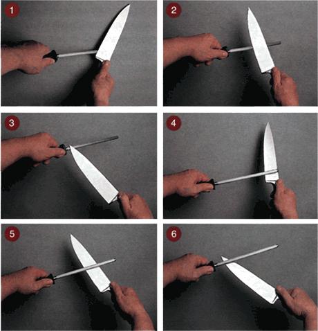 заиочка ножа на мусате