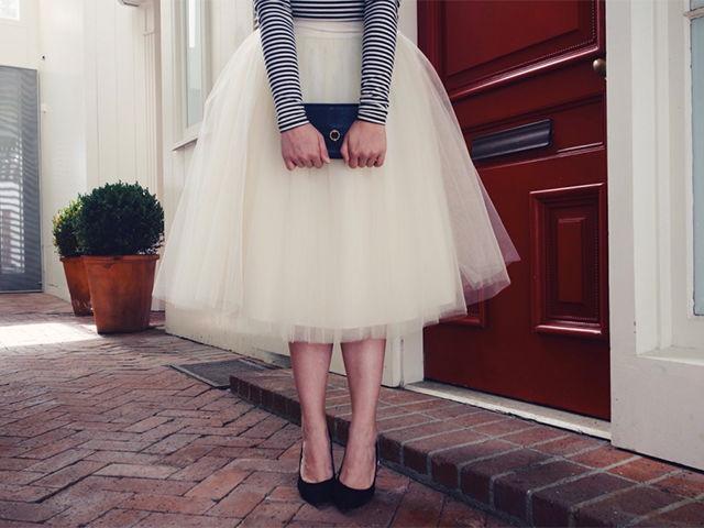 юбка из фатина