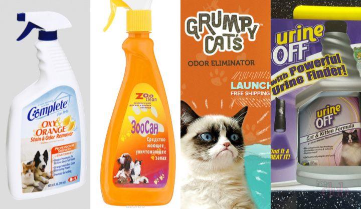 магазинные средтва от запаха кошачей мочи