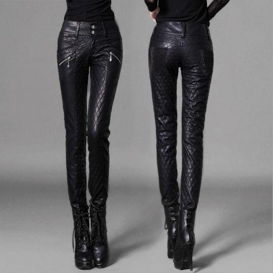 женские кожаные штаны
