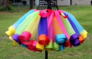 крахмалим платье и юбку