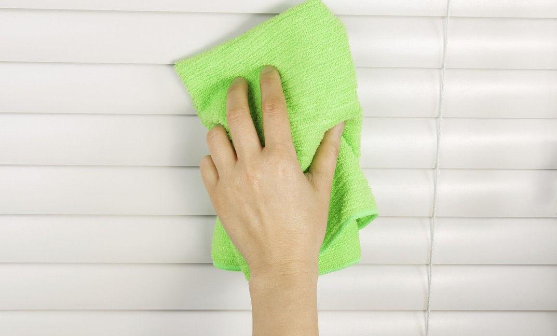 как почистить жалюзи