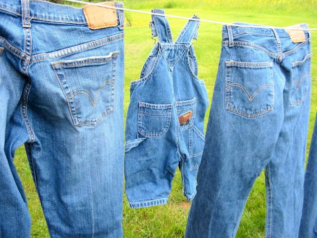 отстирываем пятна от травы с джинс