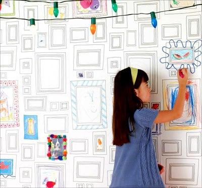 рисунки на стене фломастерами