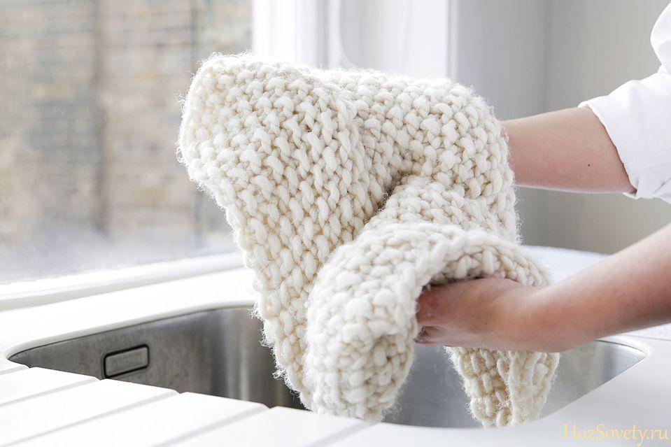 ручная стирка кашемирового шарфа