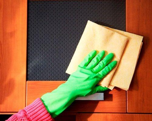 вымыть кухонную мебель от жира