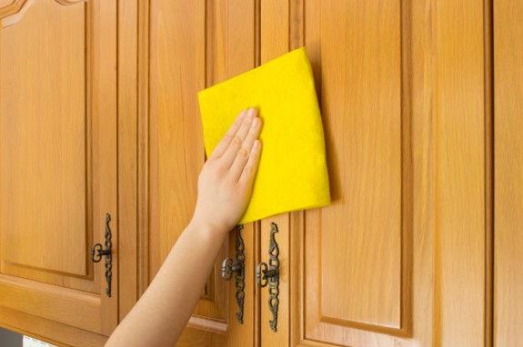 отмыть кухонные поверхности от жира