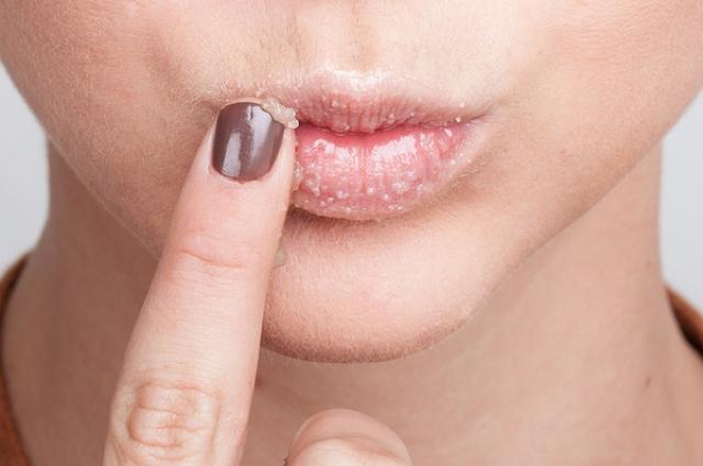 скрабинг губ