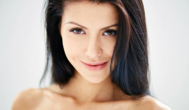 нюдовый макияж для брюнеток