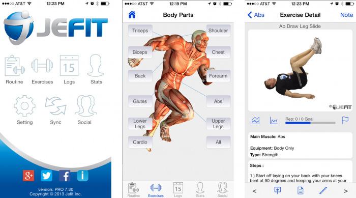 Jefit приложение для похудения